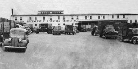 Greencastle Livestock Auciton Facility, circa 1950